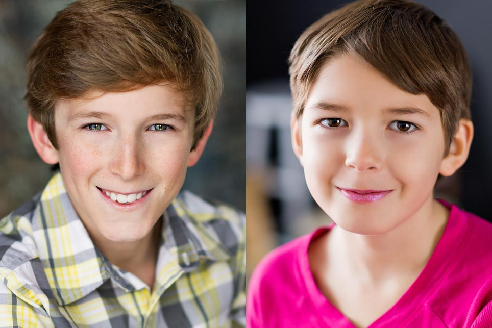Actor headshots for children, tweens and teens. Denver photographer David Sutphin.